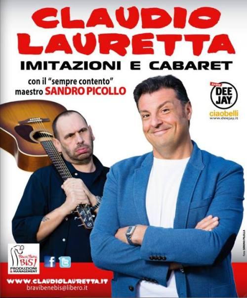 Claudio Lauretta, spettacolo di cabaret e imitazioni con i maestro Piccolo, Teatro di Tortona